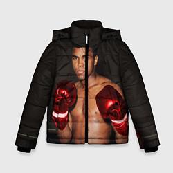 Куртка зимняя для мальчика Мухаммед Али цвета 3D-черный — фото 1