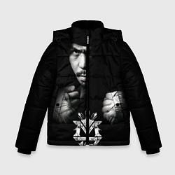 Куртка зимняя для мальчика Менни Пакьяо цвета 3D-черный — фото 1