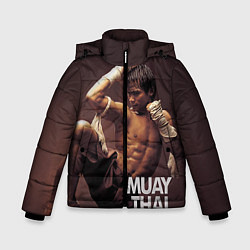 Куртка зимняя для мальчика Муай тай боец - фото 1