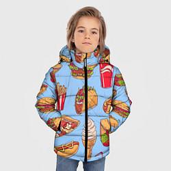 Куртка зимняя для мальчика Еда цвета 3D-черный — фото 2