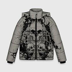Куртка зимняя для мальчика Skulls цвета 3D-черный — фото 1