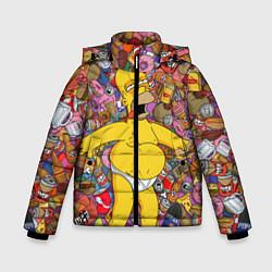 Куртка зимняя для мальчика Рай Гомера цвета 3D-черный — фото 1