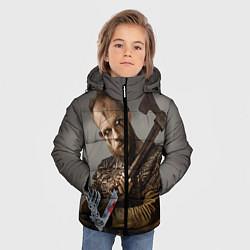 Куртка зимняя для мальчика Флоки цвета 3D-черный — фото 2