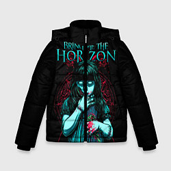 Детская зимняя куртка для мальчика с принтом BMTH: Zombie Girl, цвет: 3D-черный, артикул: 10073644406063 — фото 1