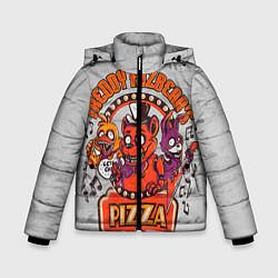 Детская зимняя куртка для мальчика с принтом Freddy Pizza, цвет: 3D-черный, артикул: 10073826506063 — фото 1