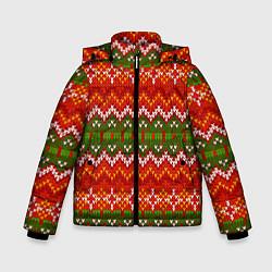 Куртка зимняя для мальчика Зимний узор цвета 3D-черный — фото 1