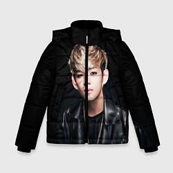 Куртка зимняя для мальчика Вишня цвета 3D-черный — фото 1