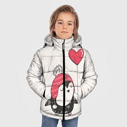 Куртка зимняя для мальчика Влюбленный пингвин - фото 2