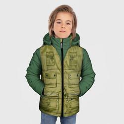 Куртка зимняя для мальчика Жилетка рыбака цвета 3D-черный — фото 2