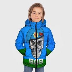 Детская зимняя куртка для мальчика с принтом Череп: ВДВ, цвет: 3D-черный, артикул: 10077769406063 — фото 2
