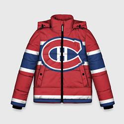 Детская зимняя куртка для мальчика с принтом Montreal Canadiens, цвет: 3D-черный, артикул: 10079438006063 — фото 1