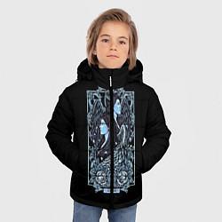 Куртка зимняя для мальчика Близнецы цвета 3D-черный — фото 2