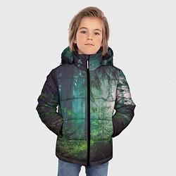 Куртка зимняя для мальчика Таинственный лес цвета 3D-черный — фото 2