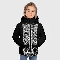 Куртка зимняя для мальчика Скелет цвета 3D-черный — фото 2
