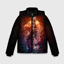 Куртка зимняя для мальчика Баскетболист цвета 3D-черный — фото 1
