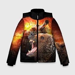 Куртка зимняя для мальчика Защитник цвета 3D-черный — фото 1