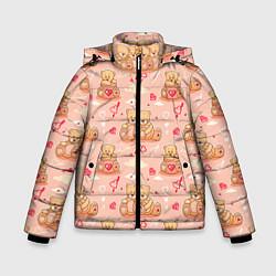 Куртка зимняя для мальчика Love Teddies цвета 3D-черный — фото 1