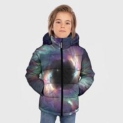 Куртка зимняя для мальчика Star light space цвета 3D-черный — фото 2