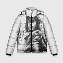 Куртка зимняя для мальчика Молодой Боб Марли цвета 3D-черный — фото 1