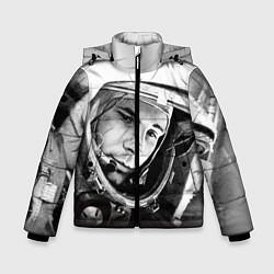 Куртка зимняя для мальчика Юрий Гагарин цвета 3D-черный — фото 1