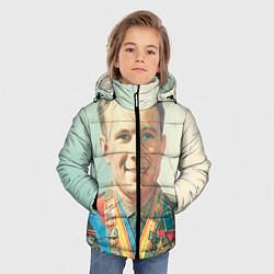 Куртка зимняя для мальчика Гагарин в орденах цвета 3D-черный — фото 2
