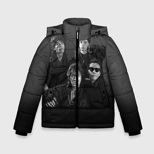 Зимняя куртка для мальчика Группа Кино / 3D-Черный – фото 1