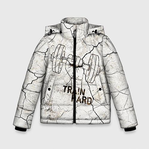 Зимняя куртка для мальчика Train hard / 3D-Черный – фото 1