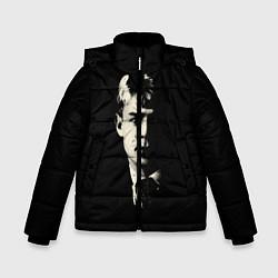 Куртка зимняя для мальчика Есенин Ч/Б цвета 3D-черный — фото 1