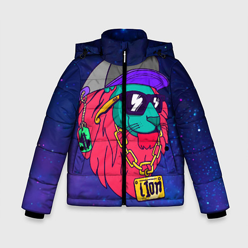 Зимняя куртка для мальчика Лев SWAG / 3D-Черный – фото 1