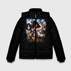 Куртка зимняя для мальчика Kiss Monster цвета 3D-черный — фото 1
