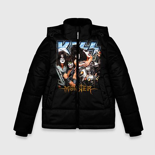 Зимняя куртка для мальчика Kiss Monster / 3D-Черный – фото 1