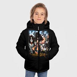 Куртка зимняя для мальчика Kiss Monster цвета 3D-черный — фото 2