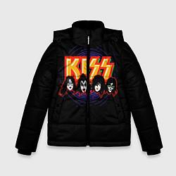 Куртка зимняя для мальчика KISS: Death Faces цвета 3D-черный — фото 1