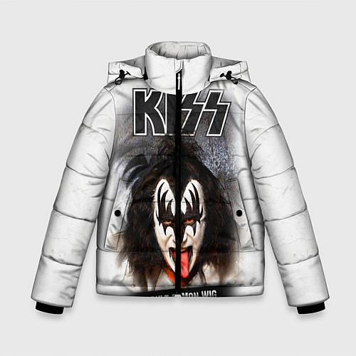 Зимняя куртка для мальчика KISS: Adult demon wig / 3D-Черный – фото 1