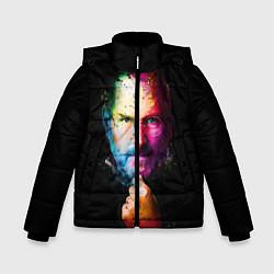 Куртка зимняя для мальчика Стив Джобс цвета 3D-черный — фото 1