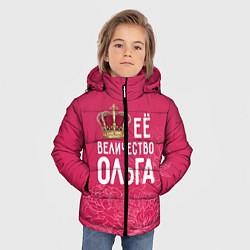 Куртка зимняя для мальчика Её величество Ольга цвета 3D-черный — фото 2