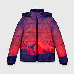 Куртка зимняя для мальчика Абстракция цвета 3D-черный — фото 1