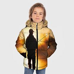 Куртка зимняя для мальчика Вечерний рыбак цвета 3D-черный — фото 2