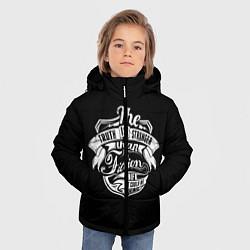 Куртка зимняя для мальчика The Truth Is Stranger цвета 3D-черный — фото 2