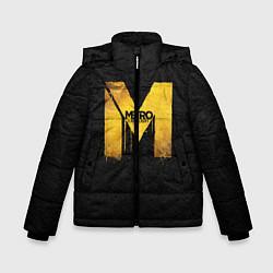 Детская зимняя куртка для мальчика с принтом Metro: Last Light, цвет: 3D-черный, артикул: 10088873906063 — фото 1