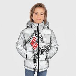 Детская зимняя куртка для мальчика с принтом Muay thai Words, цвет: 3D-черный, артикул: 10089320606063 — фото 2