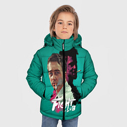 Куртка зимняя для мальчика Fight Club Stories цвета 3D-черный — фото 2