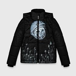 Куртка зимняя для мальчика Гагарин в небе цвета 3D-черный — фото 1