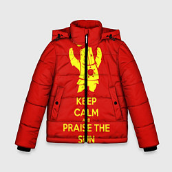 Куртка зимняя для мальчика Keep Calm & Praise The Sun цвета 3D-черный — фото 1