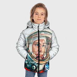 Куртка зимняя для мальчика Гагарин в полете цвета 3D-черный — фото 2