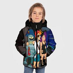 Куртка зимняя для мальчика Футурама пати цвета 3D-черный — фото 2