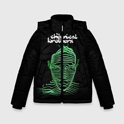 Куртка зимняя для мальчика Chemical Brothers: Acid lines цвета 3D-черный — фото 1