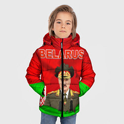 Куртка зимняя для мальчика Belarus: Lukashenko цвета 3D-черный — фото 2