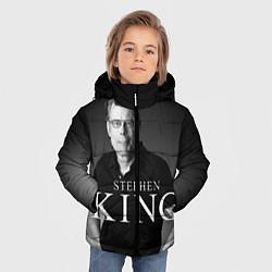 Детская зимняя куртка для мальчика с принтом Стивен Кинг, цвет: 3D-черный, артикул: 10095786506063 — фото 2