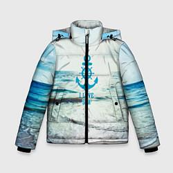 Куртка зимняя для мальчика I love sea цвета 3D-черный — фото 1